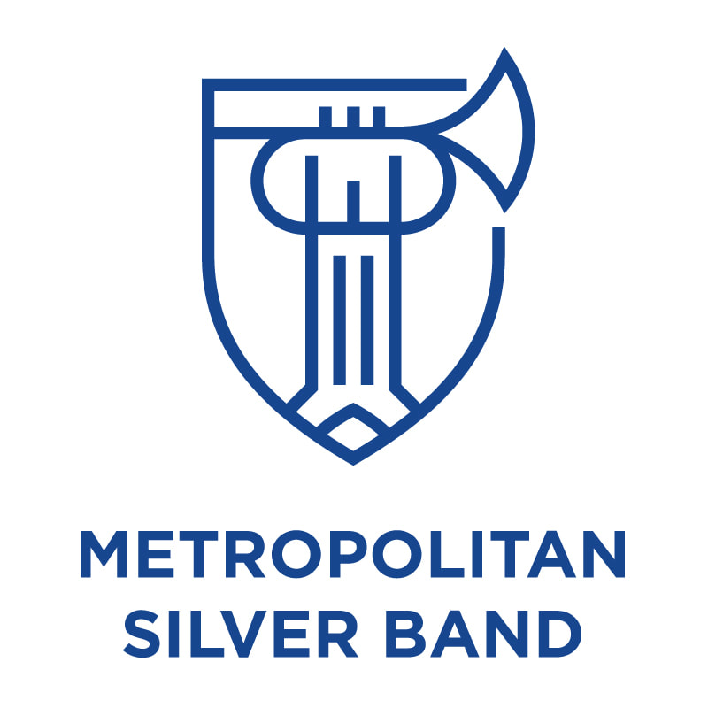 Metropolitan Silver Band logo - a brass band in the British tradition